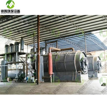 Waste Tire to Oil Recycling Machine