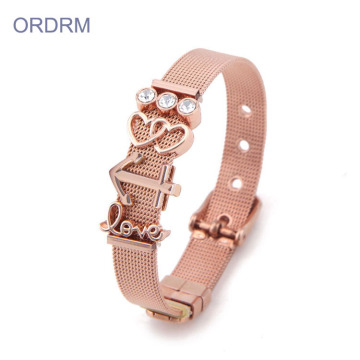 Stainless Steel Watch Band Bracelet For Valentine's Day