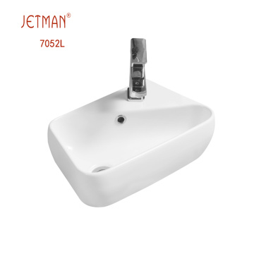 bathroom ceramic basin counter type wash basin