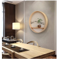 Round Natural Soild Wooden Wall Hanging Decoration
