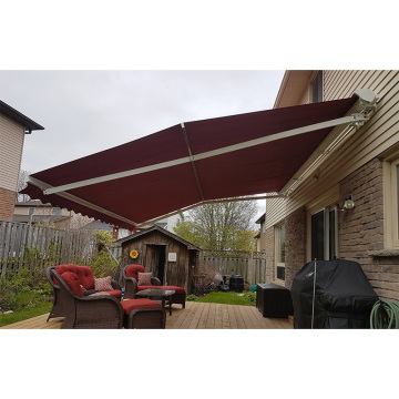 manual french door awning