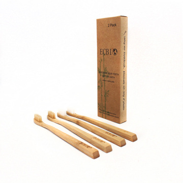 4 Pack of 100% Organic Bamboo Toothbrush