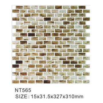 Hot Products Light Frosted Glass Mosaic Tiles art