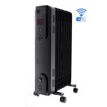 Oil filled radiator heater with thermostat