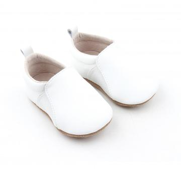 Popular White Leather Baby Boat Casual Shoes