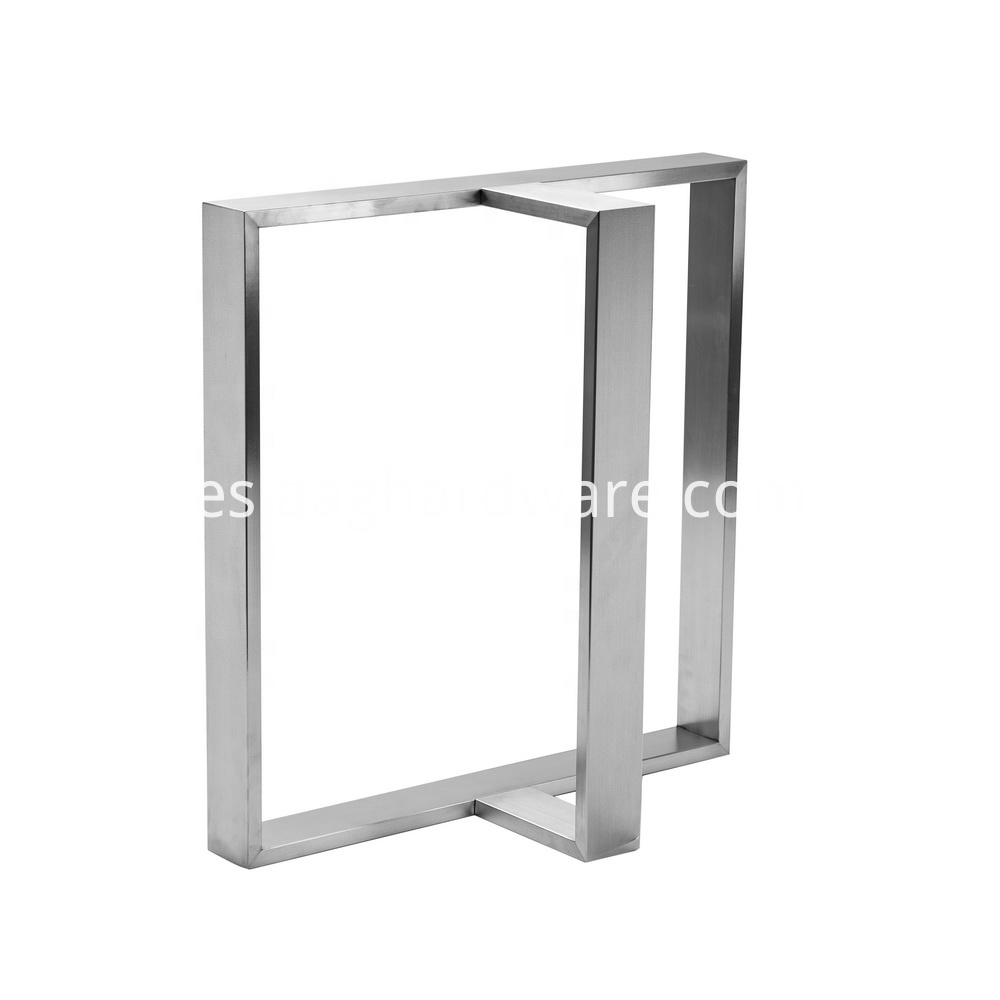 Stainless Steel Table Legs Modern T Shaped 3