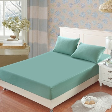 1Pc 100% Cotton Fitted Sheet Hotels Sheets Non-Slip Mattress Cover Solid Color Bed Cover Multicolor Optional Bedspreads