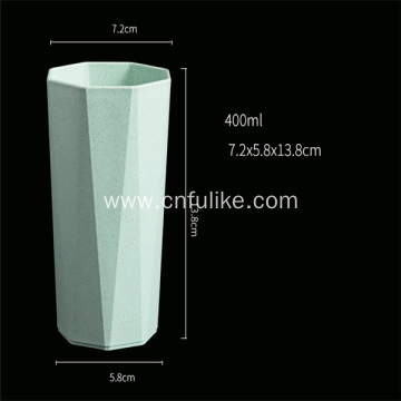 Octagon Shape Colorful Plastic Cup Degradable Cup