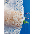 White Dress Material Flower Border Lace Trim Fabric