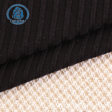 2x2 cotton knit rib trim fabric for garment