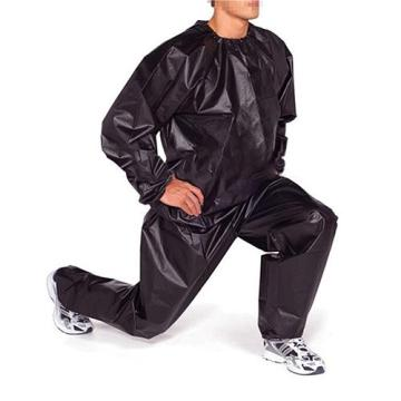 Unisex Sauna Suit PVC Fitness Weight Loss Sweating Sauna Suit Exercise Gym Pullover Sports Suit Calories Burner