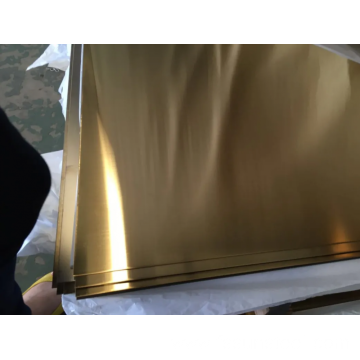 SS 304 NO.4 GOLD PVD color sheets
