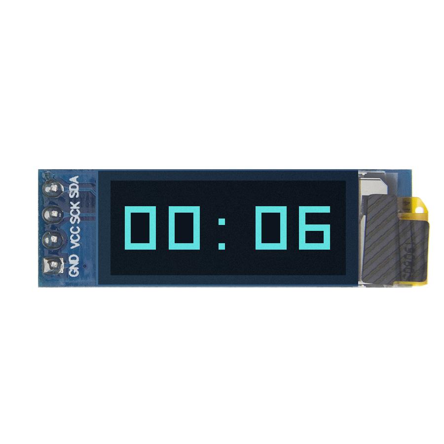 """1pcs 0.91 inch OLED module 0.91"""" White/Blue OLED 128X32 OLED LCD OLED Display Module IIC Communicate D34/D24 0.91 oled"""