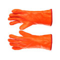 Cotton winter gloves with rough finish pvc coating