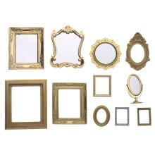 1:12 Scale Photo Frames Retro Mirror for Dollhouse Decor DIY Vintage Ornament Furniture European Style Doll House Accessories
