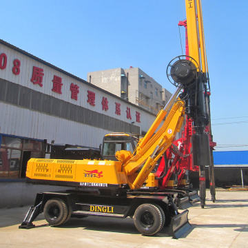 Small wheel rotary drilling rig machine
