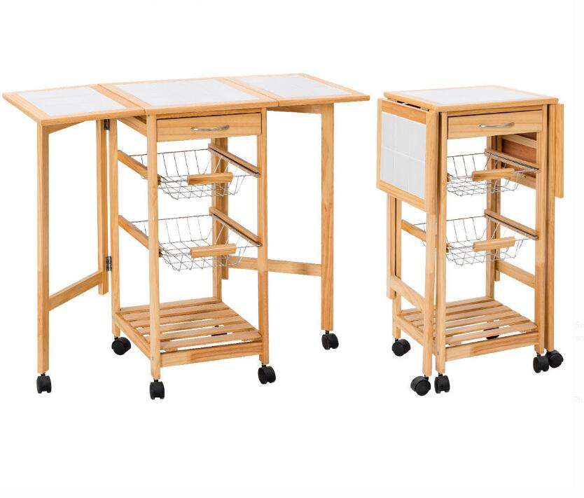 Bamboo Foldable Kitchen Trolley New Design Online