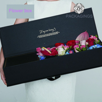 Gold foil stamping hat flower packaging box