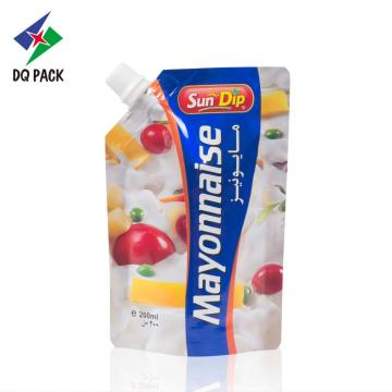 Mayonnaise bag with spout, stand up pouch with corner spout