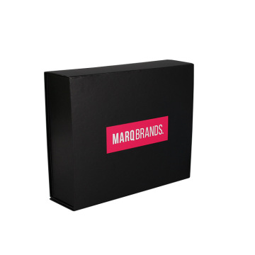 Custom Black Packaging Boxes Magnetic Closure Gift Box