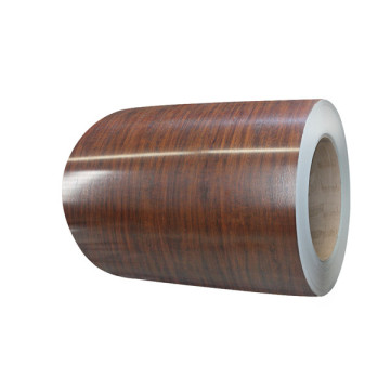 Wooden precoated metal coils
