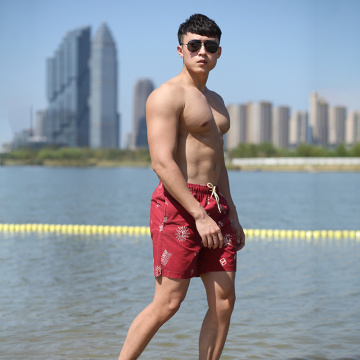 150GSM Cotton Polyester Full Elastic Man′s Swim Short