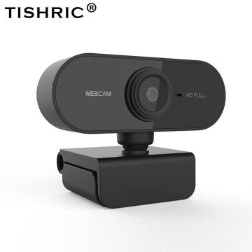 TISHRIC Webcam 1080p Auto Focus Web Cam Web Camera With Microphone Camara Web Camera For Computer Live Broadcast Video Calling