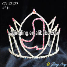 Pink rhinestone boot custom pageant crowns for Christmas