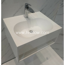 Pure acrylic wall-hung washbasin for bathroom