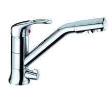 Copper Kitchen Faucet Mixer Tap with 360 Swivel and Purified Water Spout