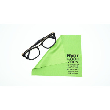 soft eyeglasses silk printed cleaning cloth