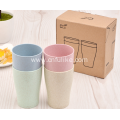 4 Pairs Wheat Straw Drinking Cup Set