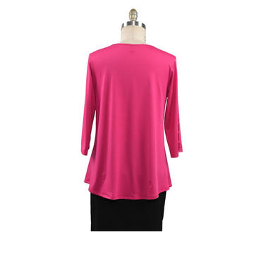 Solid Color Comfortable Casual Round Neck