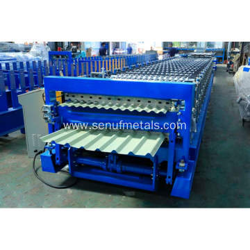 Roof Use Double Layer Corrugated Profile Roofing Machine