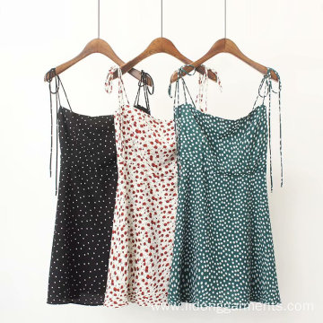 Women's Printed Floral Sling Mini Dress