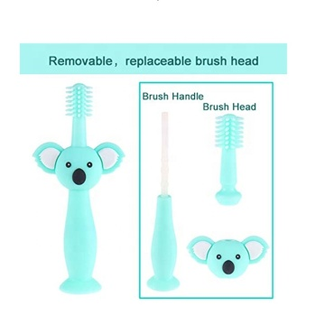 3D Cartoon Bear Silicone Toothbrush for Baby