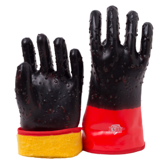 PVC Coated Gloves with cashmere liner