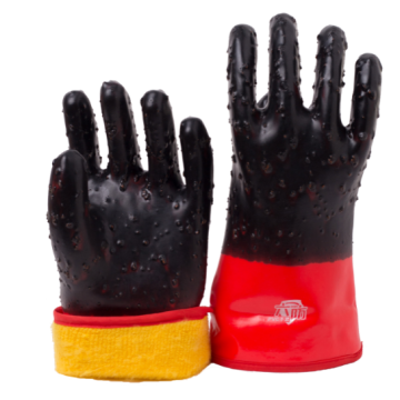 Winter pvc coated gloves