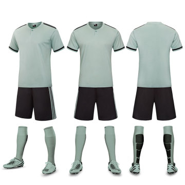 Mint Green color soccer jersey with botton
