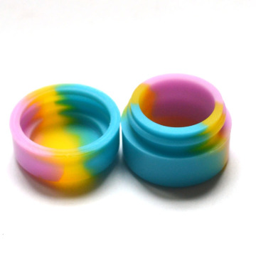 10pcs 2ml Silicone Wax Box Dry Herb Jars Dab Round Shape Silicone Container Wax Vaporizer Silicone Jar