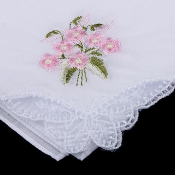 Flower Cotton Handkerchief Embroidery Pocket Square