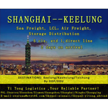 Shanghai Sea Freight to Keelung