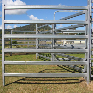metal cattle rail fence for animal