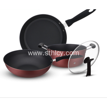 Non Stick Stainless Steel Cookware Set 3 Piece