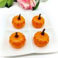 1/12pcs Orange/ White Artificial Pumpkin Ornament Halloween Home DIY Decoration Mini Fake Vegetables Foam Simulation Pumpkin