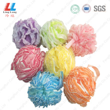 Lace mesh sponge ball bath loofah shower scrub