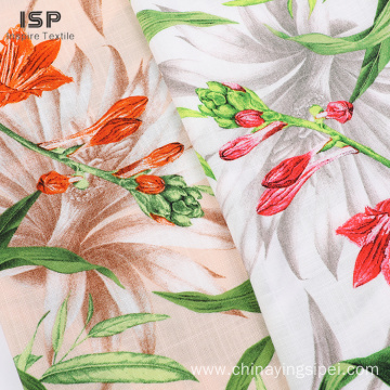 Eco-Friendly Dyed Rayon Print Slub Fabric