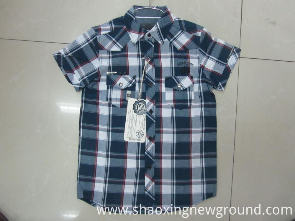 high quality check shirt