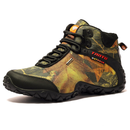 Camouflage high-top outdoor hiking shoes