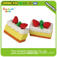 Bread shaped desert TPR Holiday gift eraser
